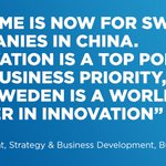 China is today the world's largest economy and Sweden's largest trading partner in Asia #TeamSweden