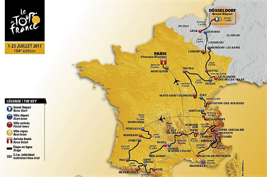 Diretta TOUR DE FRANCE Streaming Rai: 1a tappa Dusseldorf-Dusseldorf crono 13 Km Oggi 1 Luglio 2017 | Ciclismo