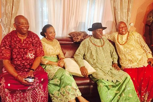 Reception ceremony at Igbuya's house after a special thanksgiving service; event was restricted to family members & few political leaders in Nigeria