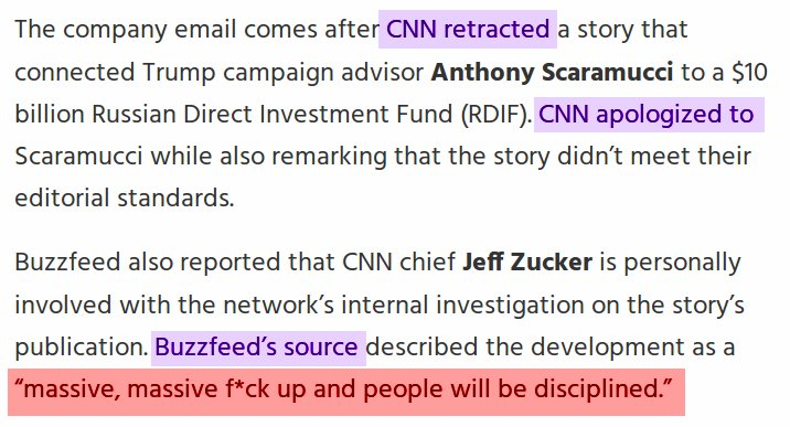 """CNN Enforcing New Rules after Russia Coverage #EpicFail CNN Email Leakedto Buzzfeed &quot;People will be disciplined""""  http://www. mediaite.com/online/cnn-enf orcing-new-rules-for-russia-coverage-after-retracting-story-on-senate-investigation/ &nbsp; … <br>http://pic.twitter.com/YB7Bo6tiEc"""