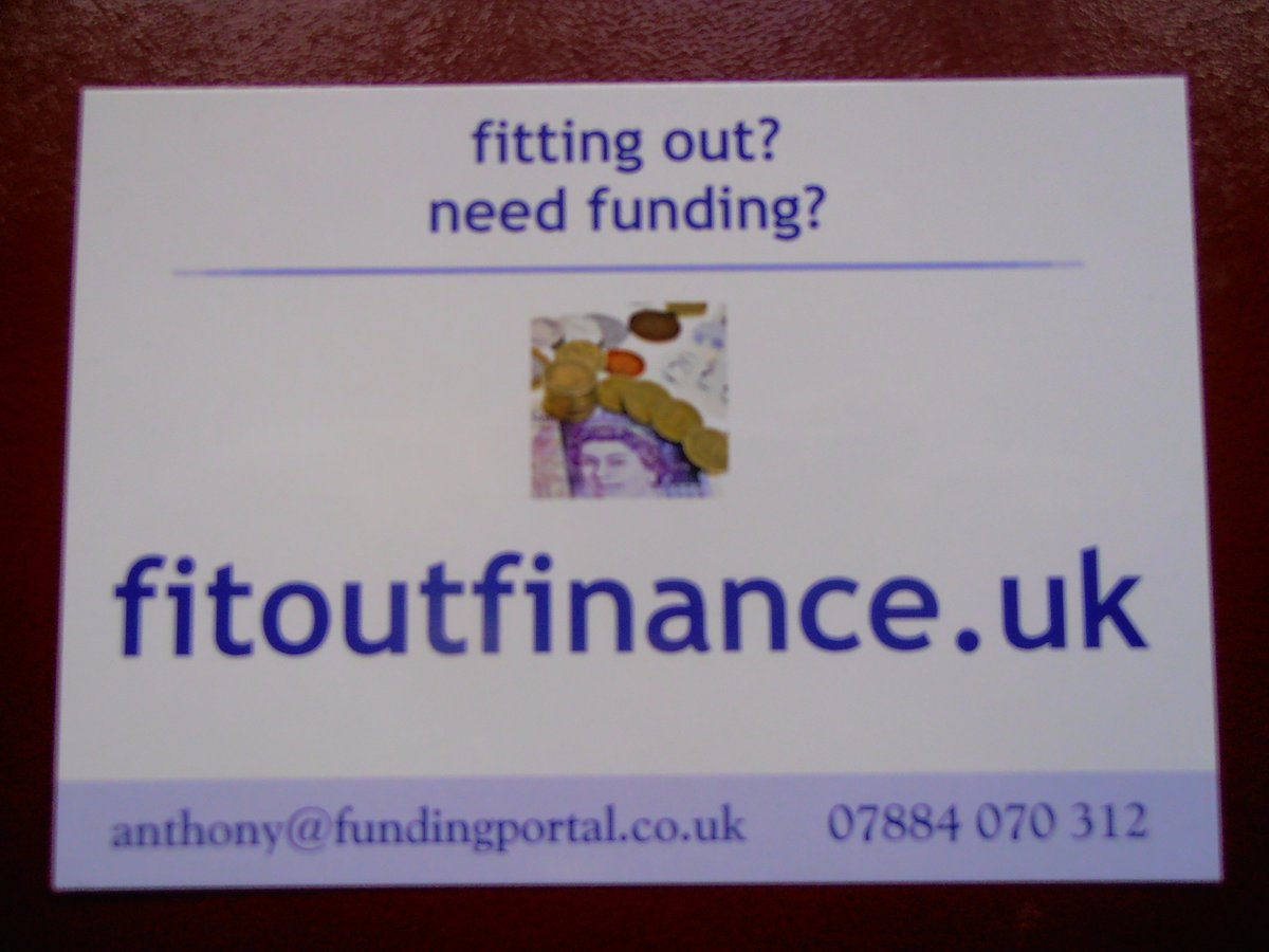 Bespoke funding for premise fit-outs call Ant and lets talk about your requirements #87RT #sbutd #shopfitting #UKSOPRO #bizshoutUK #UKBiz <br>http://pic.twitter.com/yy3V76ELpg
