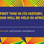 Register now to attend the World Conference on Tobacco or Health, 7-9 March in Cape Town. @WCTOH2018 https://t.co/FeiBTASZP8