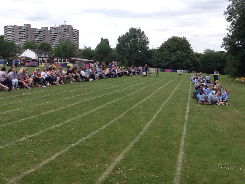 Enjoying sports day at St. Greg's #havingfun