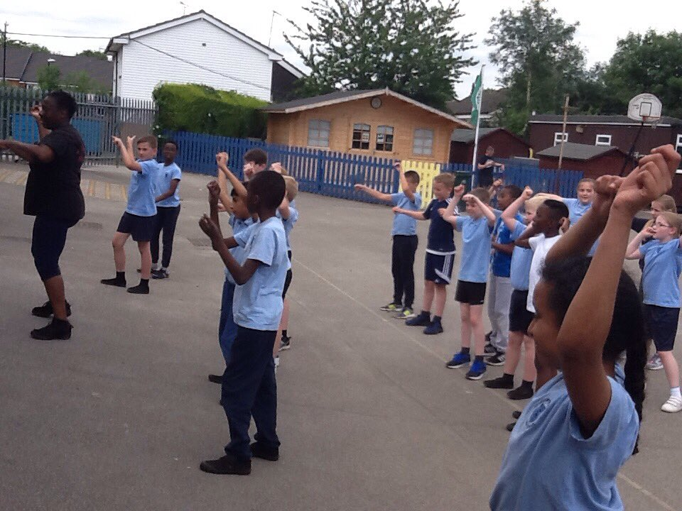 Getting down with Zumba, fab moves from year 5!