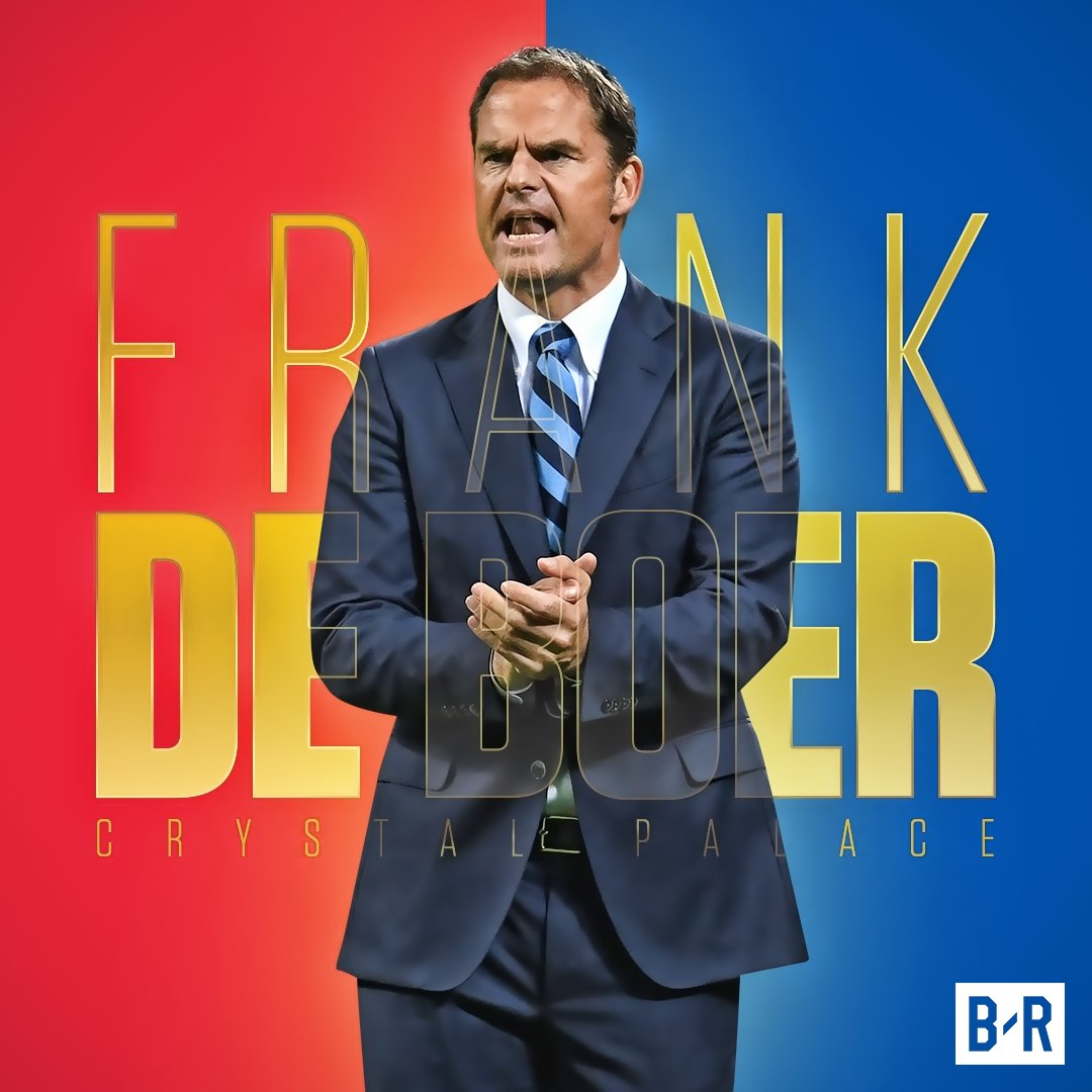 OFFICIAL: Crystal Palace have appointed Frank De Boer as their new man...