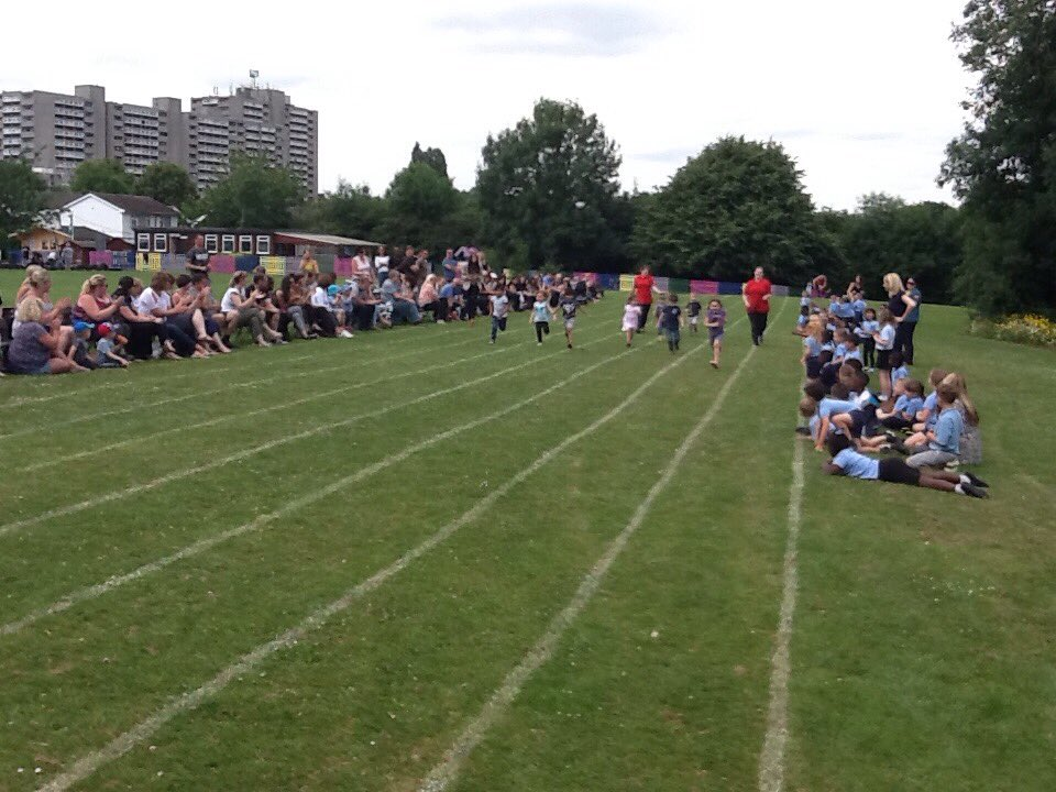Little Hearts nursery join in with St.Gregory sports day, look how fast they are!