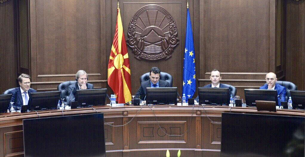 Good and important exchange with PM @Zoran_Zaev + ministers on #reform agenda at special government session. 1/3 <br>http://pic.twitter.com/Sy9IS03CYs