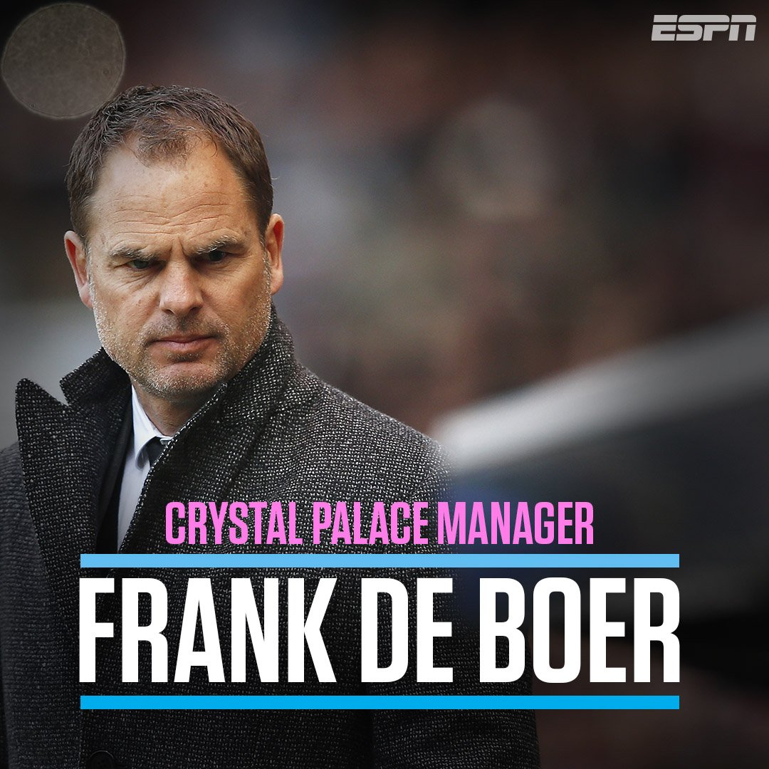 BREAKING: Frank de Boer has been appointed as the new manager of Cryst...
