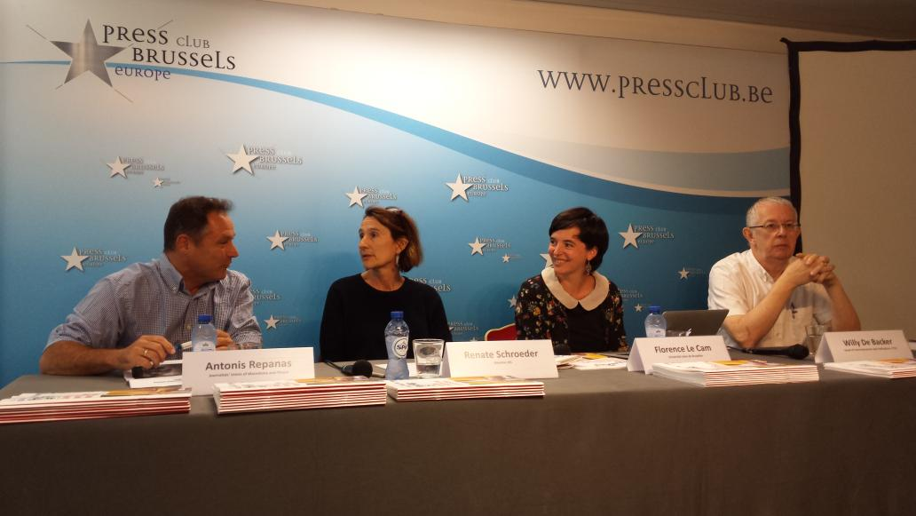 Starting now in @BrusselsPressCl: @ETUI_org &amp; @EFJEUROPE press conference on precarity in #journalism #HesaMag15<br>http://pic.twitter.com/TwPRmenXyx