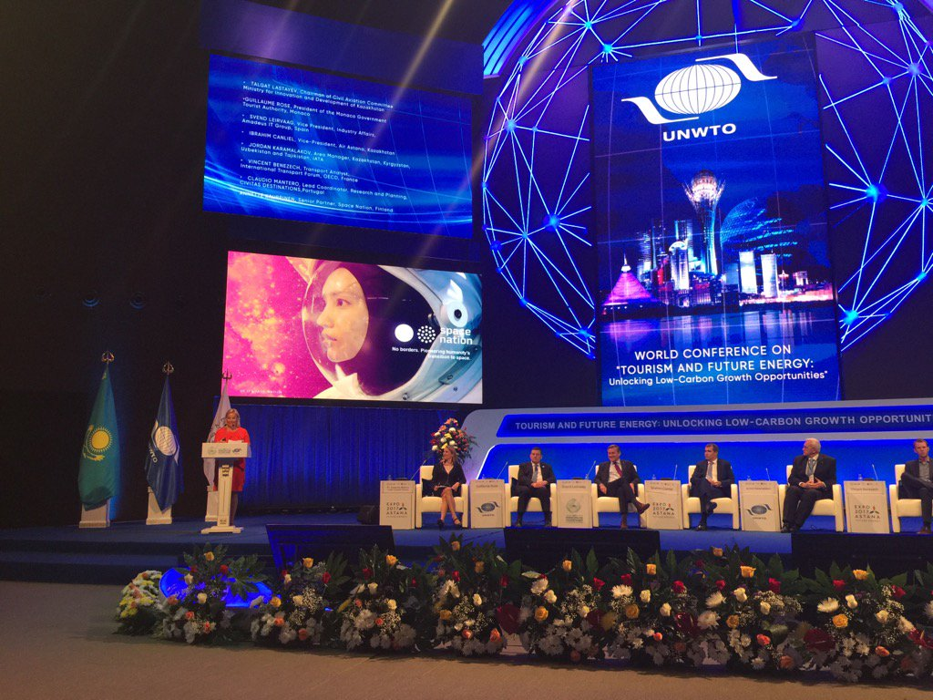 So proud to present Space Nation in #Astana World Conference on Tourism and Future energy #iy17 @spacenationorg<br>http://pic.twitter.com/cDjRumKdeG