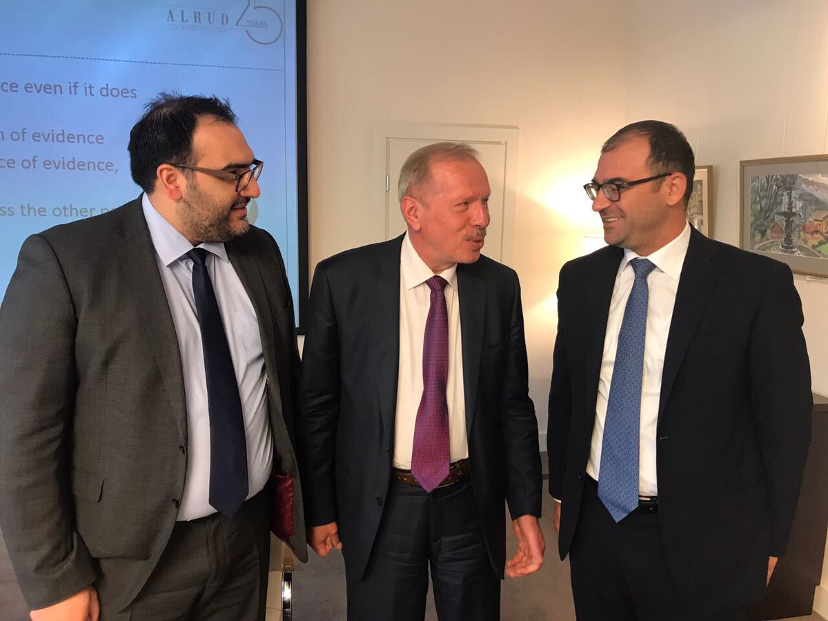 Firm members @gnmountis @ykaramanolis talking #arbitration with #AlexeyKostin Chairman of Intl Commercial Arbitration Court at #Russia CCI <br>http://pic.twitter.com/6RrhT2HrHL
