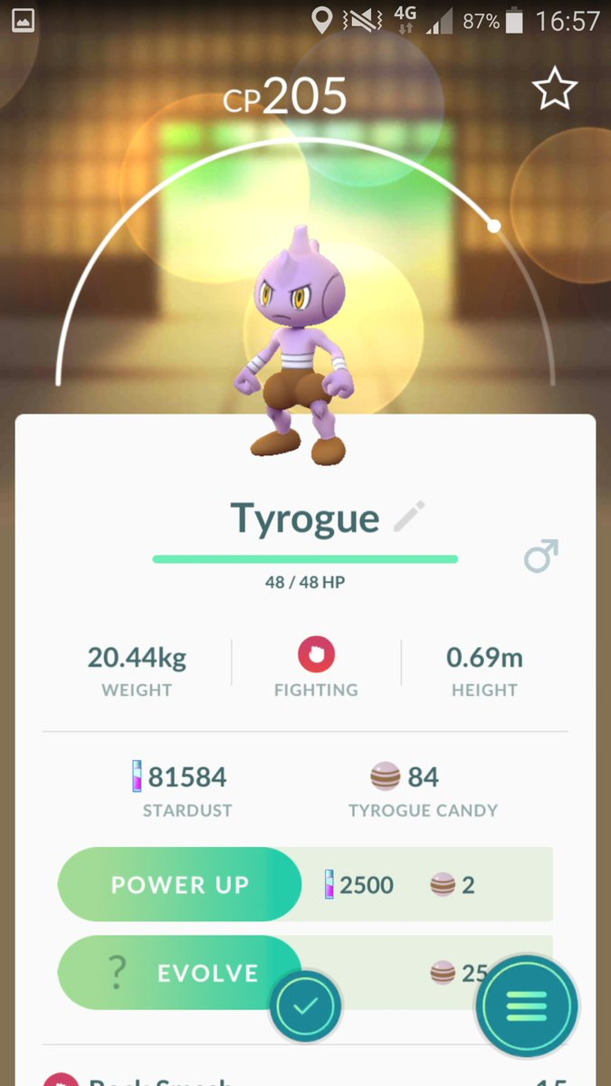Finally it's over! Gen 2 Asia completed Tyrogue in the Dex!  @ReversalYouTube @trnrtips #pokemongohk #pokemongopic.twitter.com/vbYmHaSGtJ