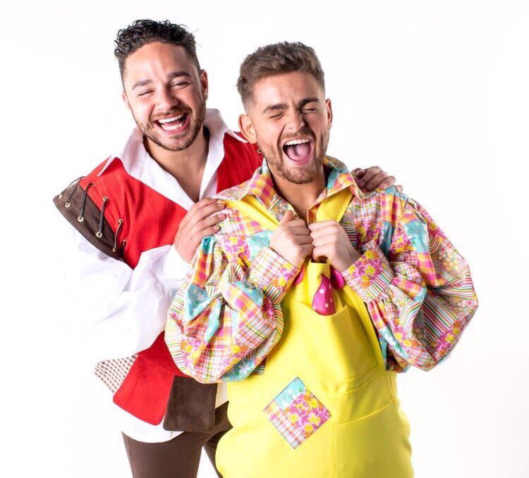 Blimey!! I can see trouble ahead this Christmas!!! These 2 together??!! @adamthomas21 @samglen @timessqpanto 😈 https://t.co/qtvJIGCB3d