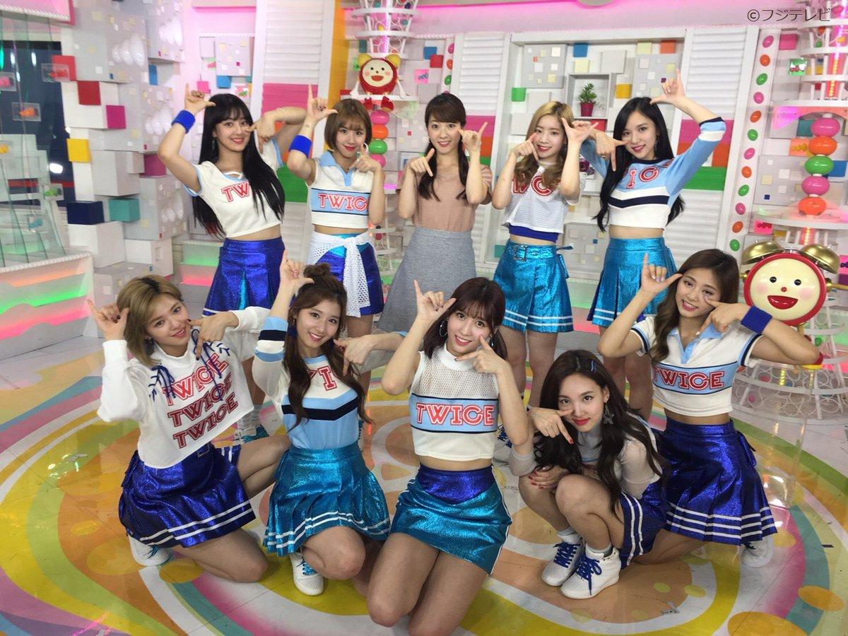 TWICEのみなさんにインタビュー!「TT」日本語バージョンのMVや、新曲「SIGNAL」についてお話を聞いてきたよ♪(^○^)6時30分過ぎ放送予定!#めざましテレビ