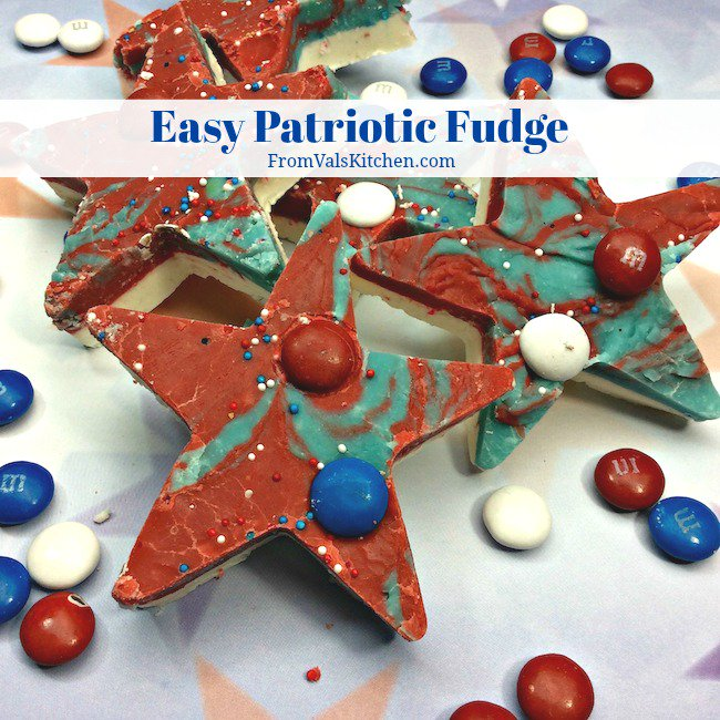 Easy Patriotic Fudge #Recipe
