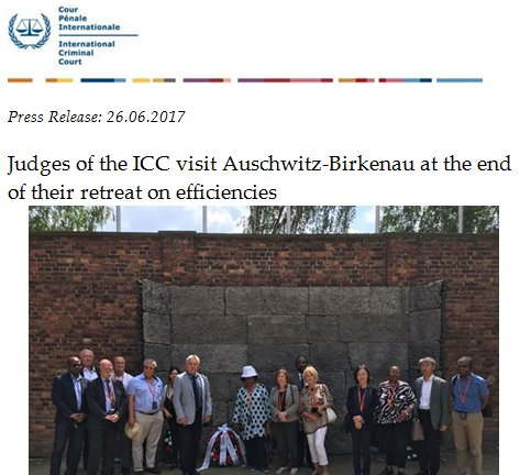 Judges of the #ICC visit Auschwitz-Birkenau at the end of their retreat on efficiencies  https://www. icc-cpi.int/Pages/item.asp x?name=PR1314 &nbsp; … <br>http://pic.twitter.com/Sx1RRdwsIB