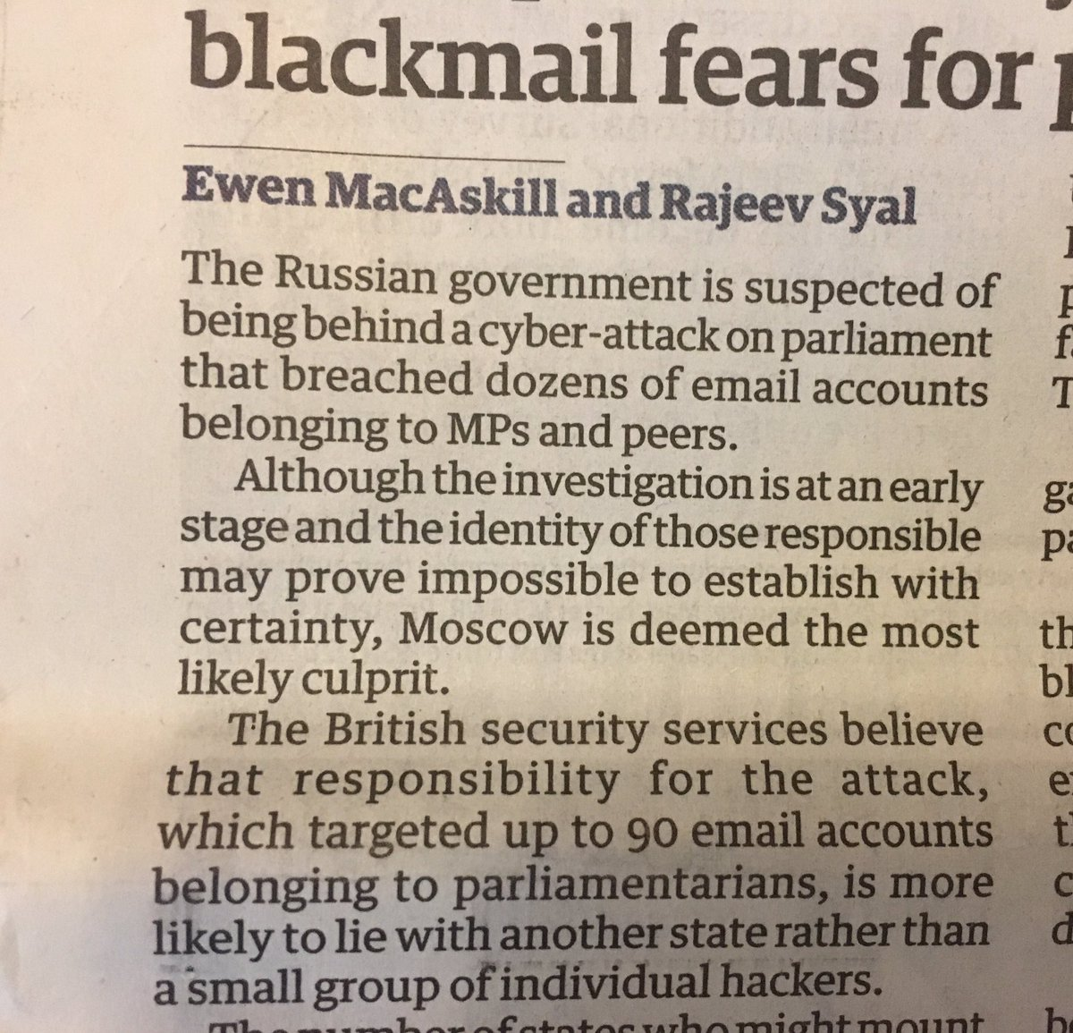 """Rule 35: Moscow is always """"the most likely culprit"""". No exceptions. No proof."""