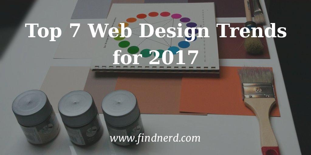 Top 7 #WebDesign Trends for 2017.  http:// findnerd.com/list/view/Top- 7-Web-Design-Trends-for-2017/29839/ &nbsp; …  #webdev #ux #UI #uxdesign<br>http://pic.twitter.com/QaumaR56DI
