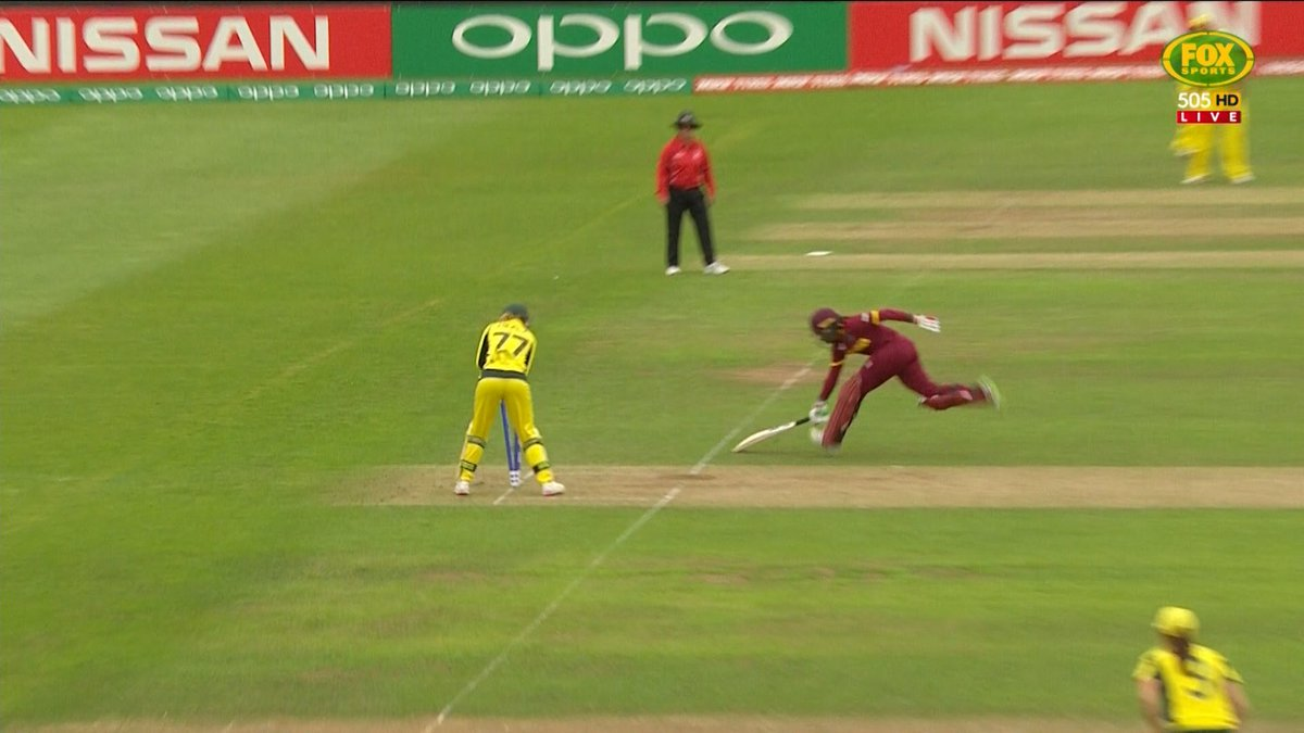 Not out was the call here... #WWC17 #AUSvWI https://t.co/ZfnGrhQTYl