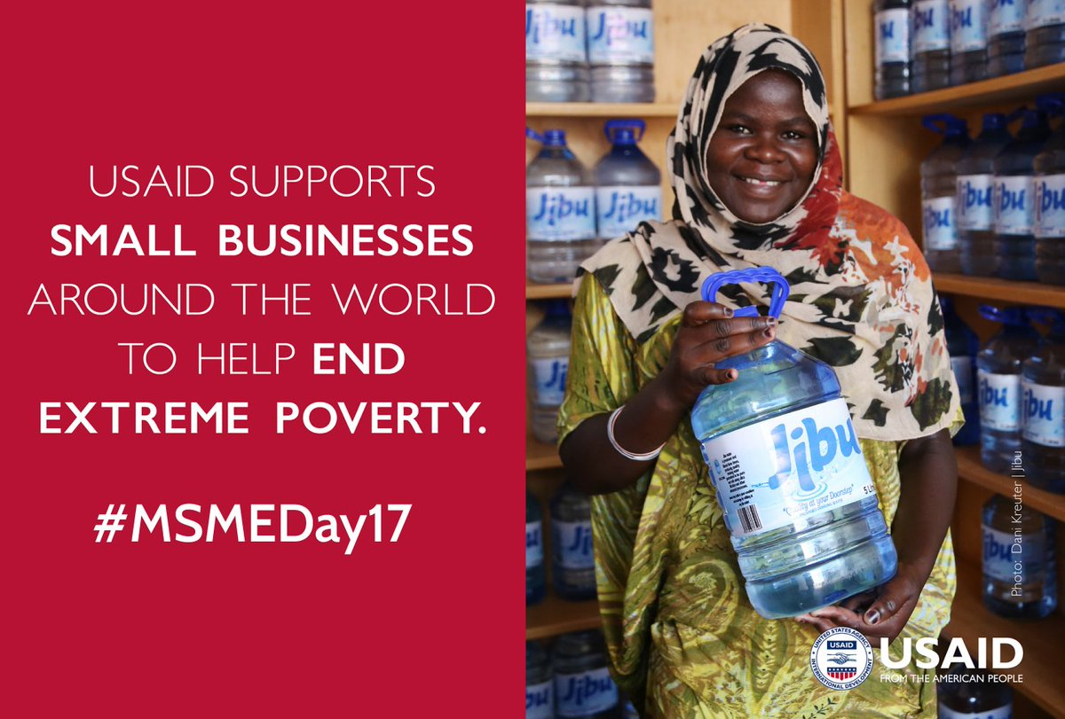 Tomorrow is #MSMEDay17!  @USAID honors  the role entrepreneurs play in the global economy. We&#39;re proud to support #socent | #USAIDPartners<br>http://pic.twitter.com/uIU7baewhl
