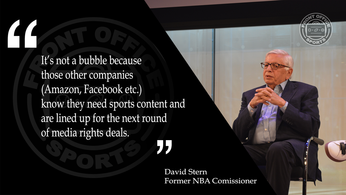 Are sports media rights a bubble? David Stern doesn't think so. #HS17...