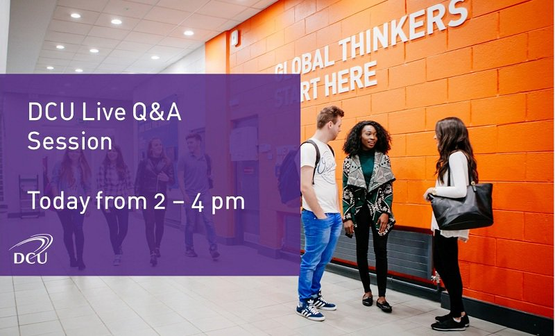 Live Q&amp;A session, today 2-4pm, with staff from across the University ready to answer questions and queries. #cao  http://www. dcu.ie/studentrecruit ment/askusaquestion.shtml &nbsp; … <br>http://pic.twitter.com/fcpp9cawge