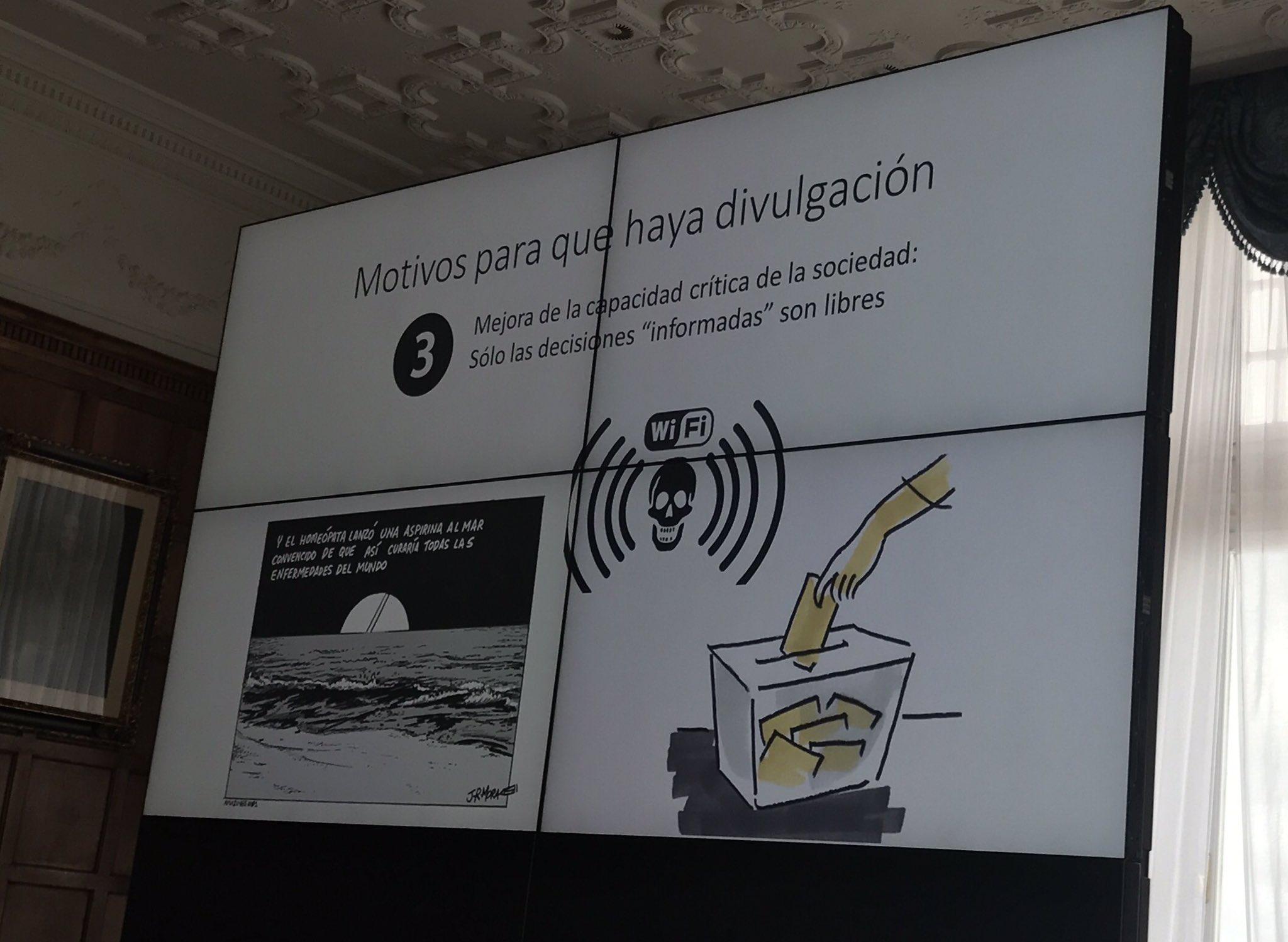 Por derechos humanos, por responsabilidad social, por calidad democrática hay que divulgar la ciencia @Joaquin_Sevilla  #UIMPDivulgaCiencia https://t.co/1JQ8BPqOgb