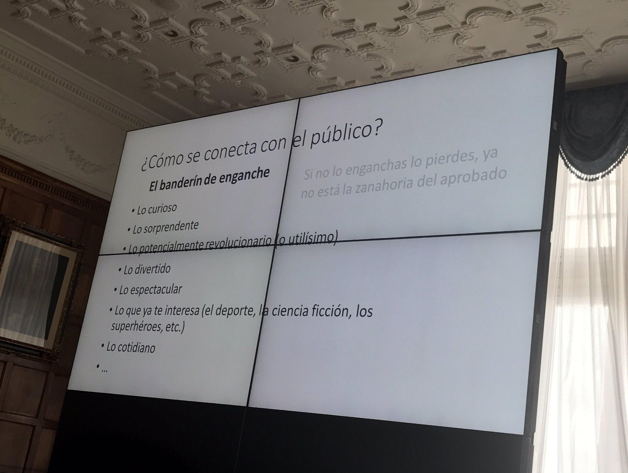 ¿Cómo se conecta con el público? @Joaquin_Sevilla @UNavarra #UIMPDivulgaCiencia https://t.co/GmJaWrFT4W