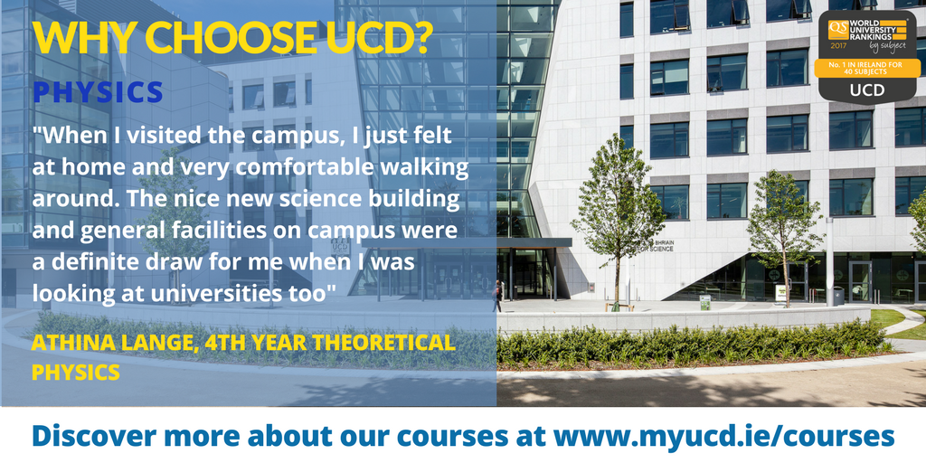 Thinking of studying Physics at university? Check our our course here in UCD:  https://www. myucd.ie/courses/scienc e/ &nbsp; …  #CAO #WhyUCD<br>http://pic.twitter.com/OK93NTfnwa