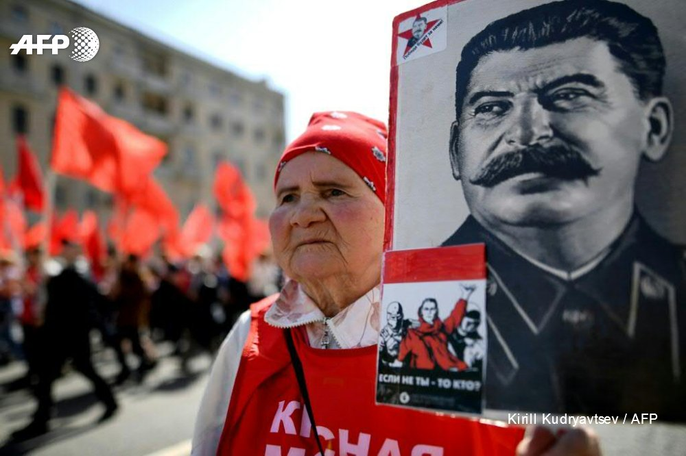 Russians have picked Soviet dictator Joseph Stalin as the greatest figure in history, a new poll says https://t.co/L6lJiiYOCM