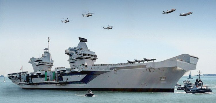 Britain Launches Biggest Warship Ever - HMS Queen Elizabeth | @JeyyLow...