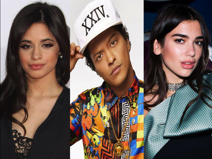#CamilaCabello & #DuaLipa Confirmed to join #BrunoMars' #24KMagicWorldTour in America!😍🔥🔥 https://t.co/ISz8MmK1K0