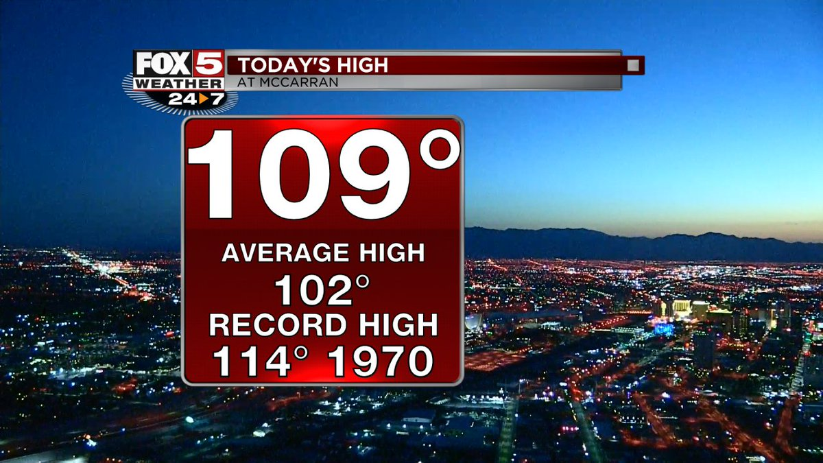 Morning #Vegas last day with #ExcessiveHeatWarning but we&#39;ll trade the heat for the wind join us @FOX5Vegas #Weather <br>http://pic.twitter.com/Ly1Tyg2e1t
