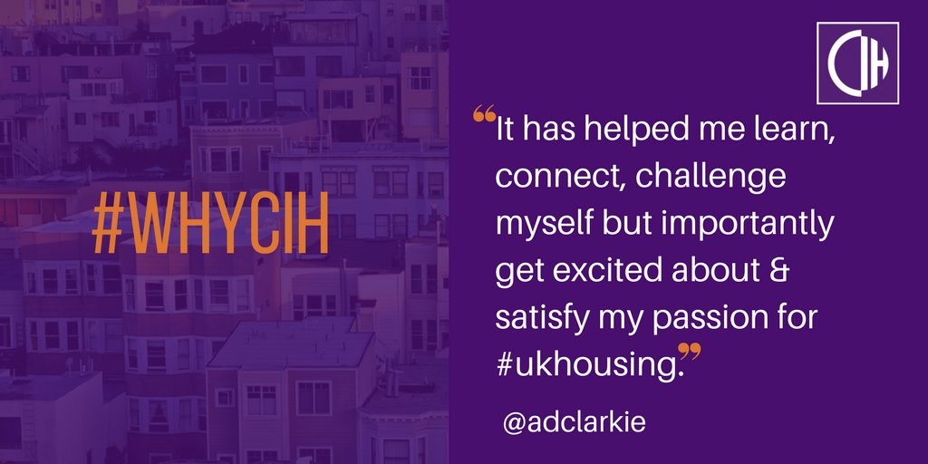 #WhyCIH? Here's what @adclarkie values about membership - let us know...