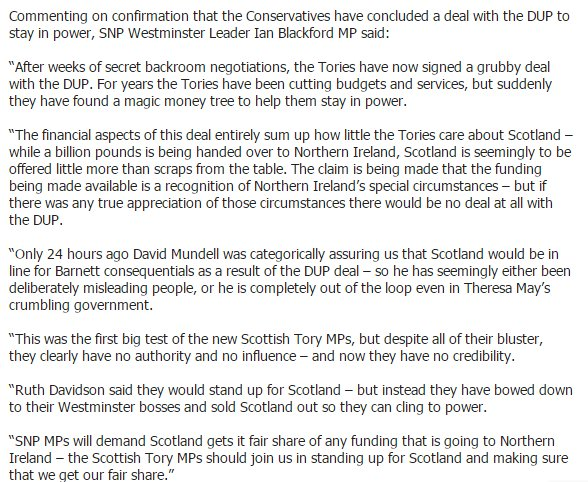 SNP Westminster leader Ian Blackford not holding back on the Tory-DUP...