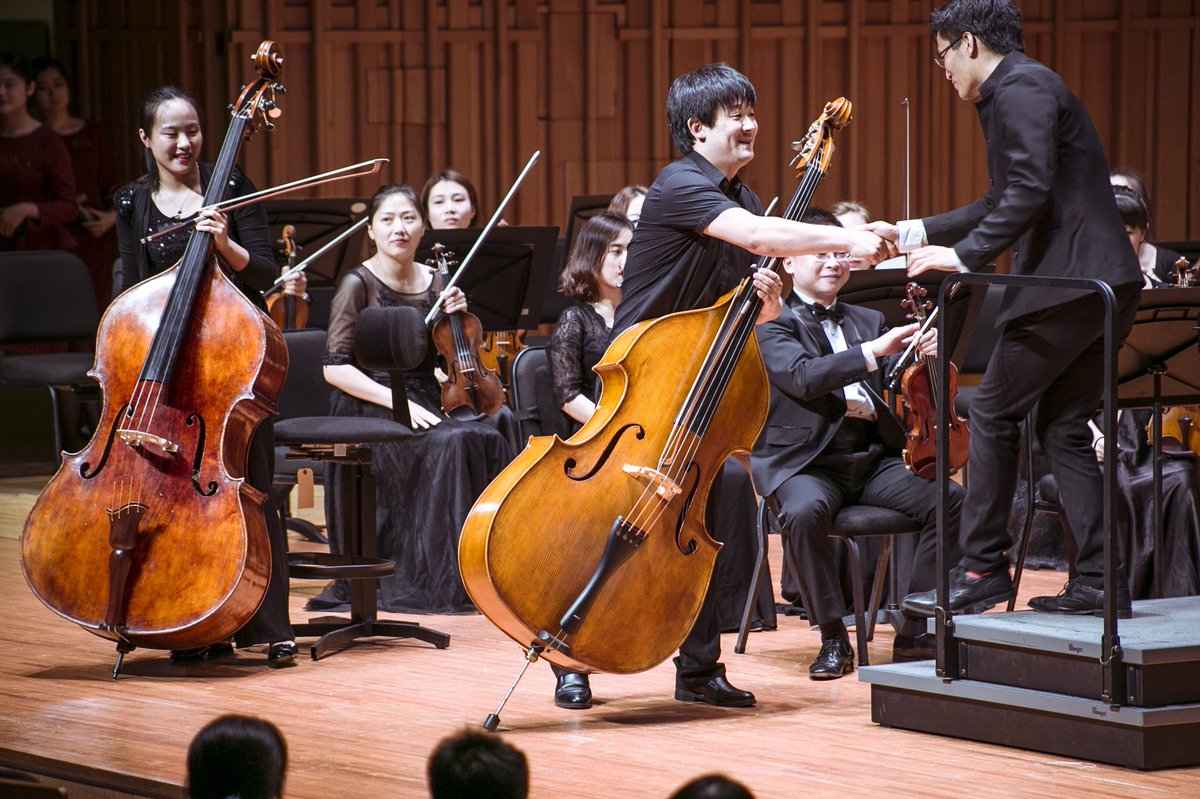 These guys. Magnificent. @xiansymphony #doublebass #bottesini #concerto <br>http://pic.twitter.com/vmOeFMXe0R