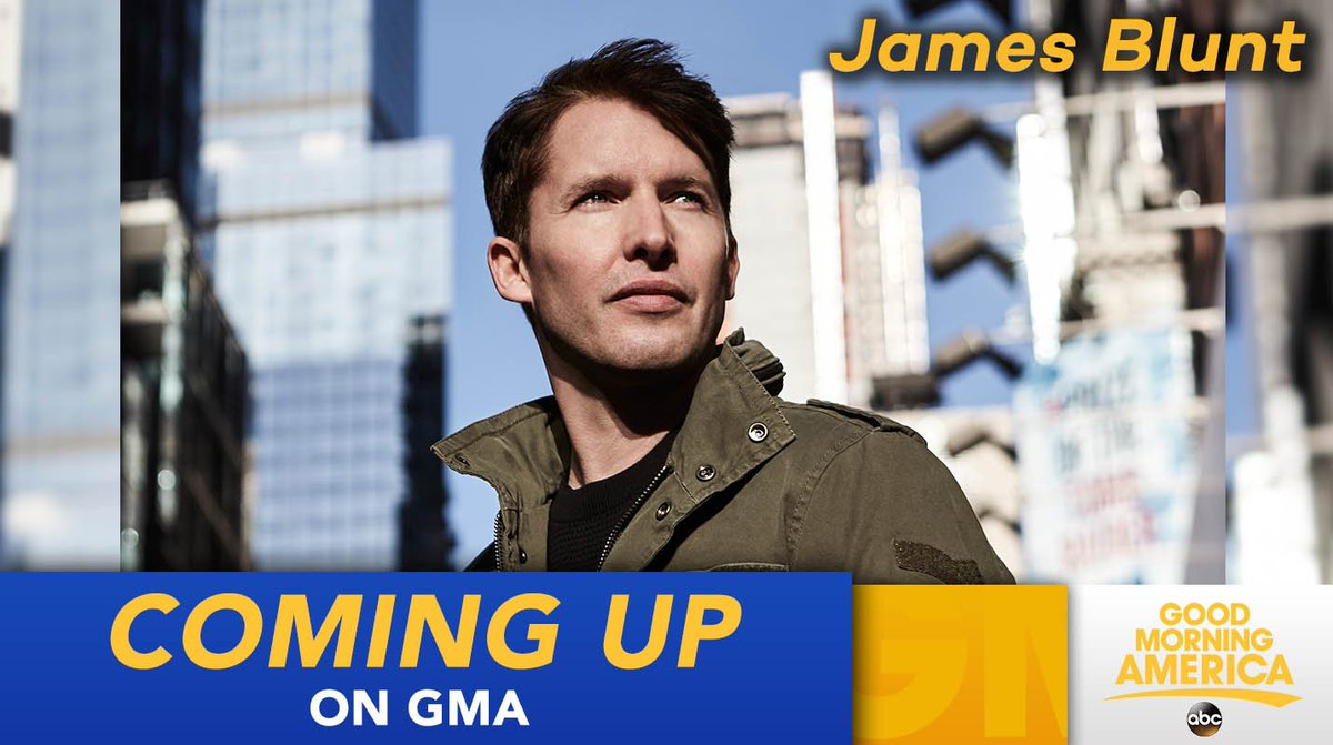 We have @JamesBlunt performing LIVE on @GMA this morning! https://t.co...