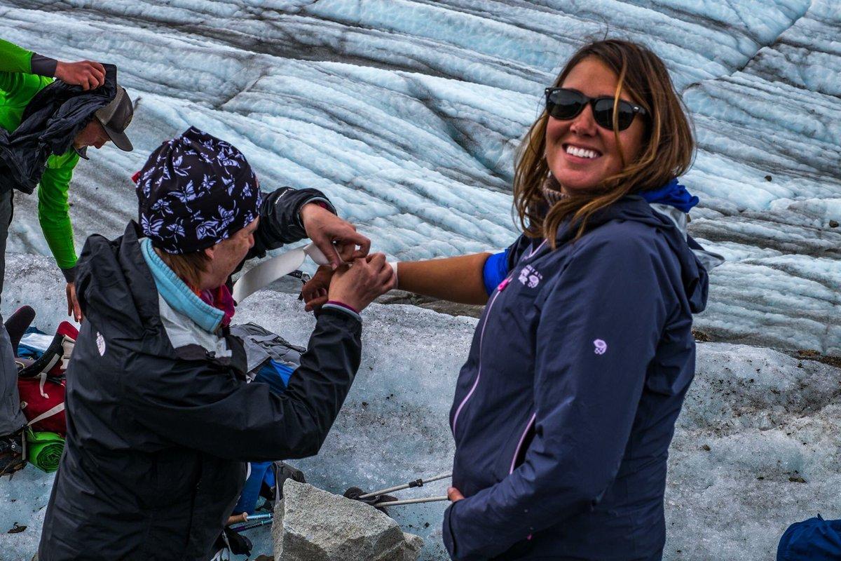 Do travel w/ a #nurse when going to crush a glacier! #FirstAidDosAndDo...