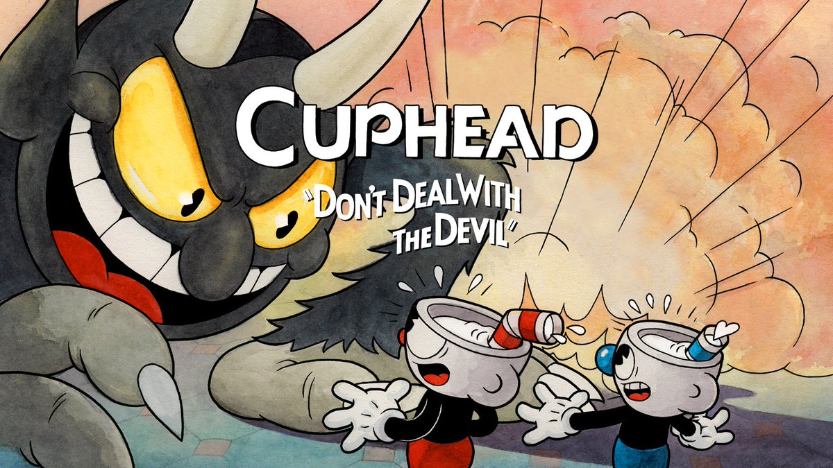 Cuphead is an entirely hand-drawn game inspired by dark, freaky 1930's propaganda cartoons.