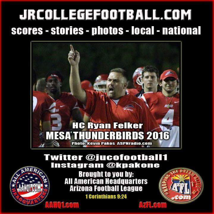 In the hunt again #Mesa #Thunderbirds #football ranked #23 in poll of over 120 #juco teams congrats HC Ryan Felker <br>http://pic.twitter.com/vKSLZBhryr