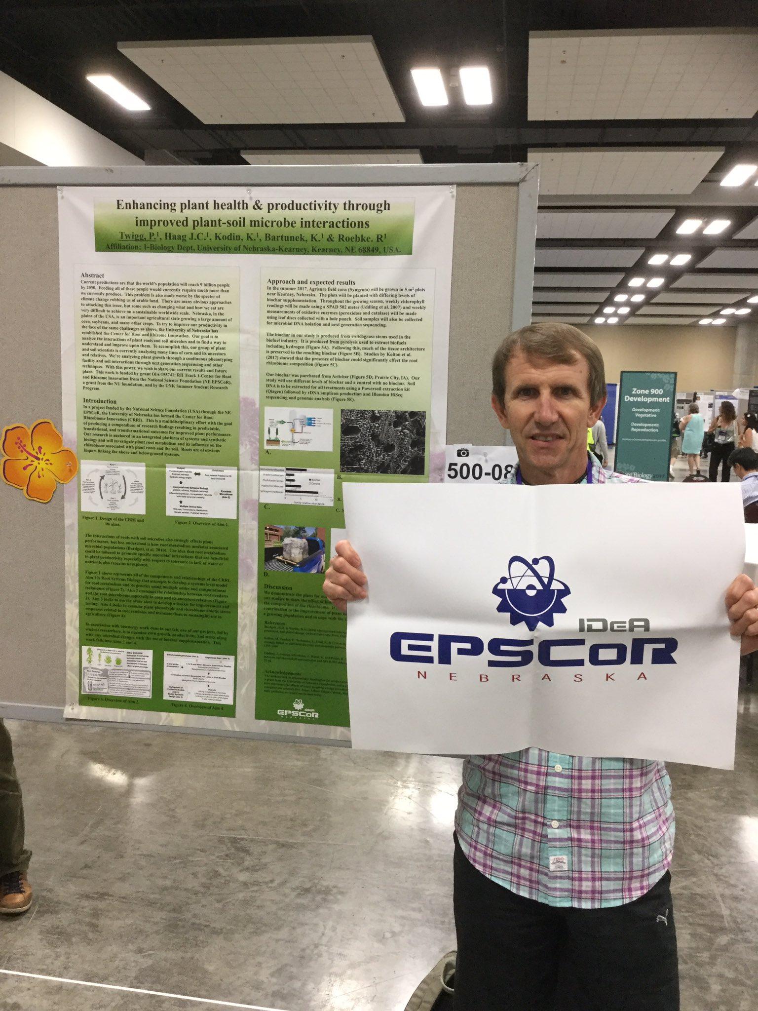 Repping @NebraskaEPSCoR @UNKearney @NE_CRRI student-driven research @ASPB #plantbio17 poster session https://t.co/G0ghSE5eTi