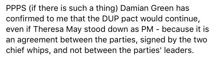 The reason Tory-DUP deal not signed by May and Foster, according to Da...