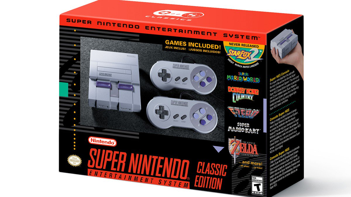 Nintendo's mini Super NES Classic launches this fall with 21 pre-installed games https://t.co/EA0OaWnJEx