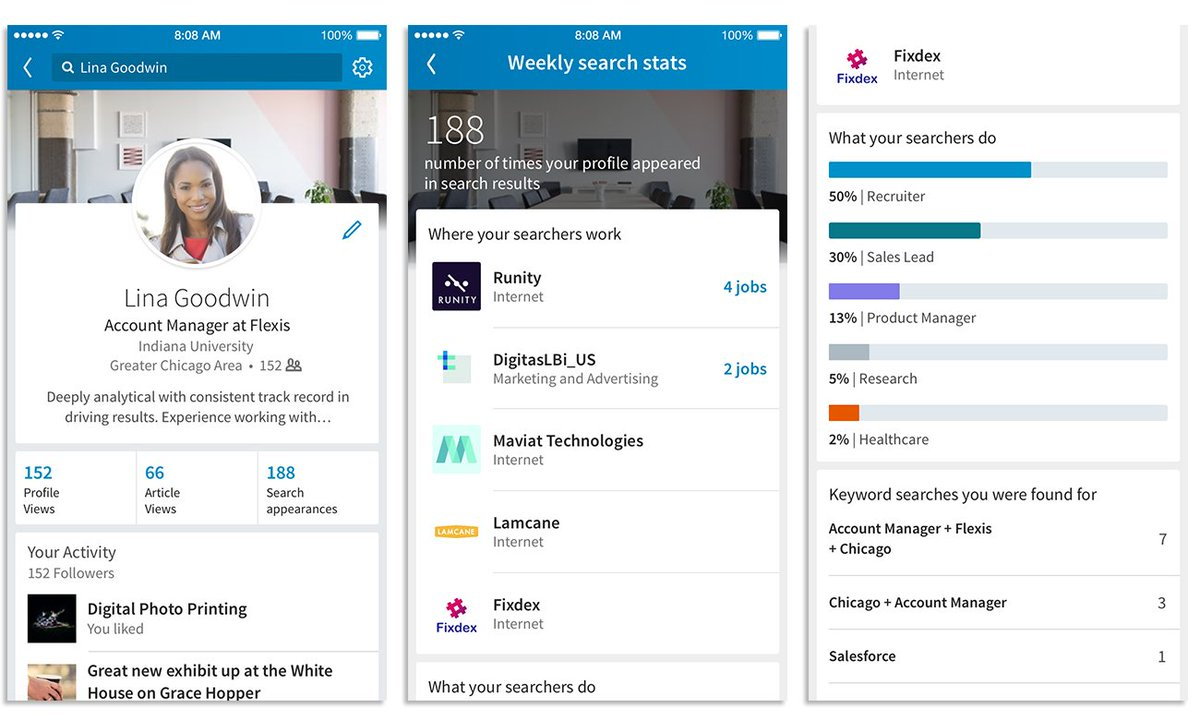 #LinkedIn say they have introduced a new feature to your #profile in June, but it&#39;s not really new -  https:// blog.linkedin.com/2017/june/21/l ooking-for-your-next-job-opportunity-get-found-via-linkedin-search &nbsp; … <br>http://pic.twitter.com/INCMNXvdbj
