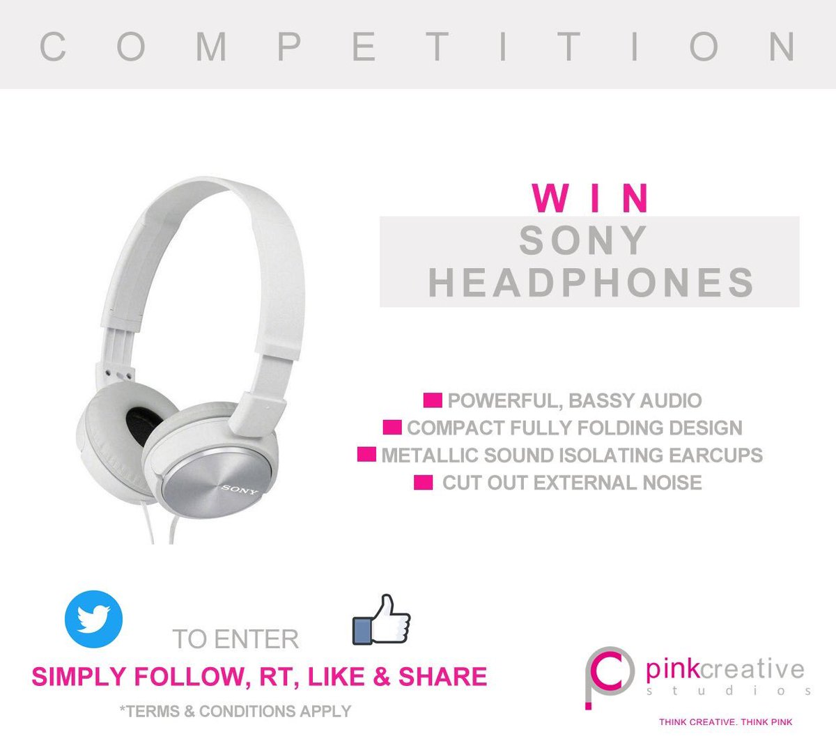 #Win #Sony Headphones. To enter Follow #RT, Like &amp; Share on #Facebook  http:// bit.ly/2sj0ZRe  &nbsp;    #Competition #giveaway #comp #Retweet #free<br>http://pic.twitter.com/hCKcxQ04ZQ