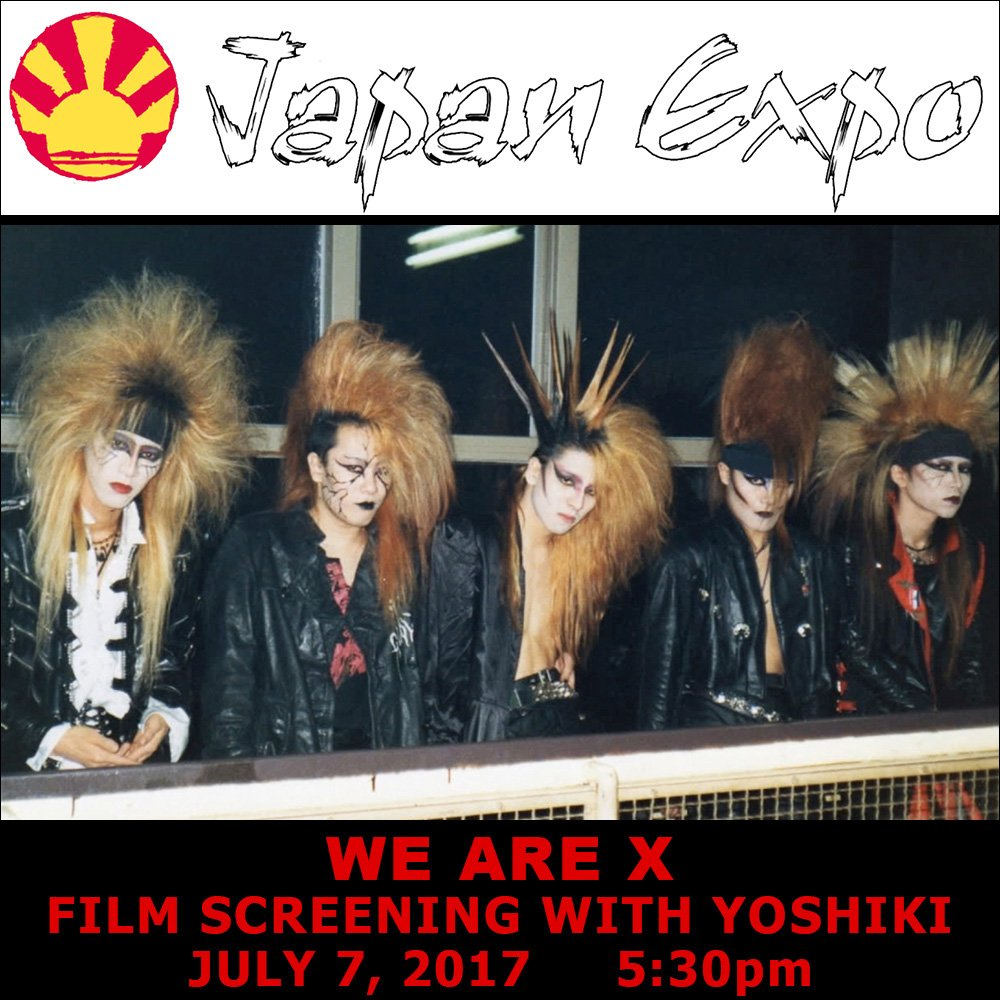 #France premiere of #WeAreX at @japanexpo July 7 w/ appearance by @YoshikiOfficial! Information at  http:// bit.ly/WeAreX_JapanEx po &nbsp; … <br>http://pic.twitter.com/2gkcY2dHGo