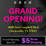 Congratulations to our latest #SevaBeauty studio Grand Opening located at 1680 Fort Campbell Blvd, Clarksville, TN 37042