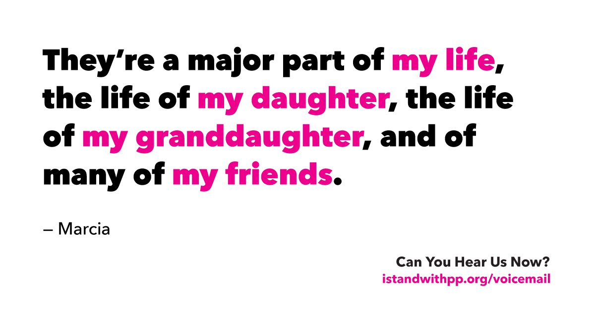 With lawmakers' phone lines jammed, we collected voicemails urging them to #StandWithPP.   Listen & send a message: https://t.co/grLDboh4p1