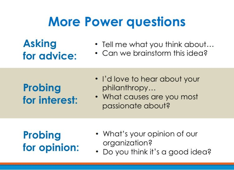 When talking to a potential donor, ask these power questions. #fundraising #AFP17PP https://t.co/fG7LETSWLG