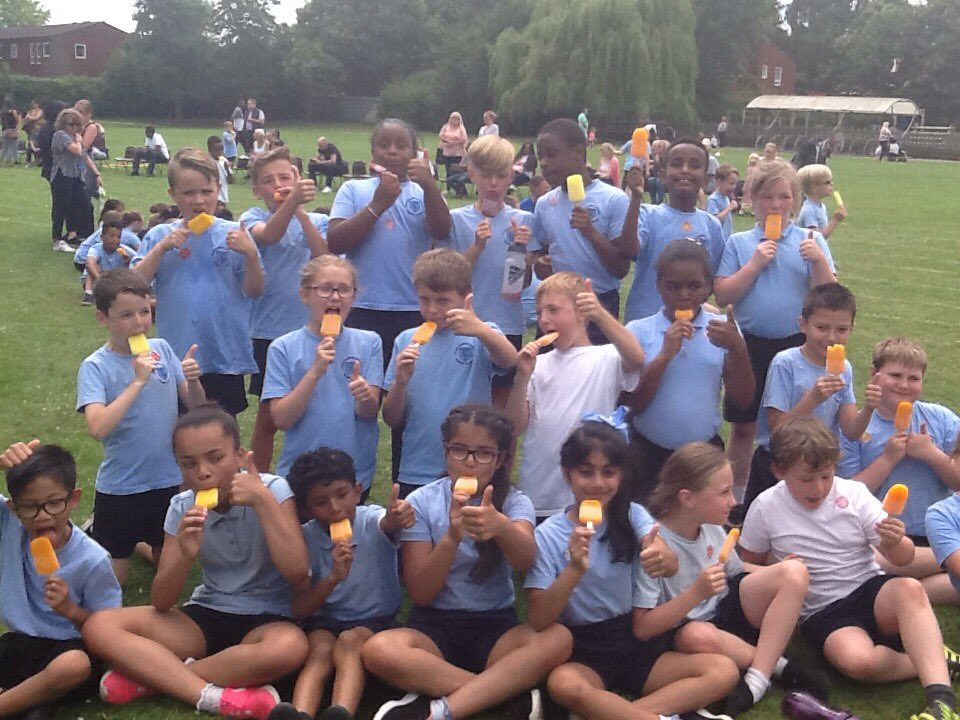 Well deserved, refreshing ice lolly for year 4,